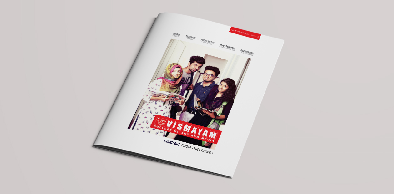 brochure design institution and college