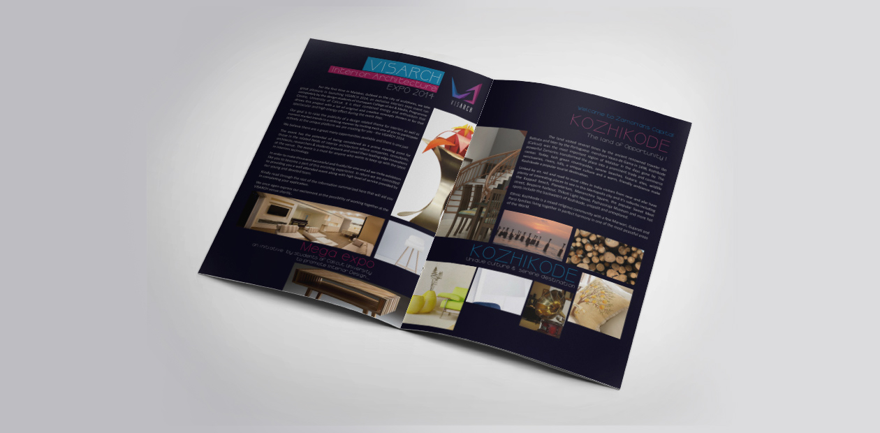 exhibition design - brochure layout design