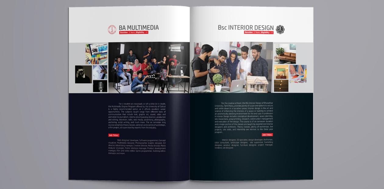 brochure layout designer